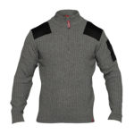 Pull COMBAT col montant FE ENGEL gris