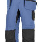 Pantacourt 37.5® avec poches holster+, LiteWork SNICKERS WORKWEAR bleu ciel/noir