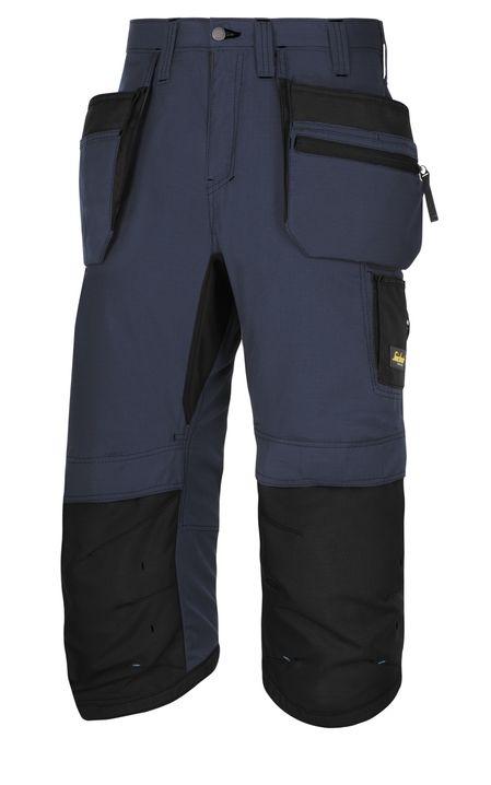 pantacourt bleu snickers workwear